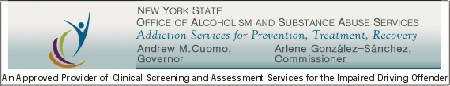 An Approved Provider of Clinical Screening Assessment for the Impaired Driving Offender